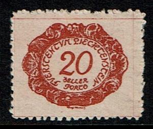 Liechtenstein Scott J4 (SW 4) Unused (1920) Postage Due