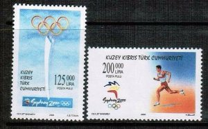 2000 SYDNEY OLYMPIC GAMES UNMOUNTED MINT - TURKISH CYPRUS