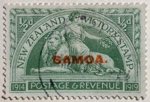 AlexStamps SAMOA #136 VF Used