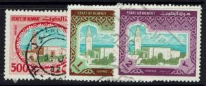 Kuwait SC# 867-869, Used, Page Remnants - Lot 110616