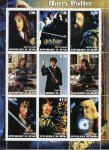 Benin 2003 Harry Potter Movie Cinema 9v Mint Full Sheet. (L-41)