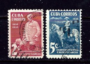 Cuba 359-60 Used 1939 General Calixto Garcia
