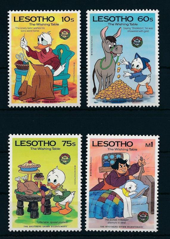 [22297] Lesotho 1985 Disney 200th Birthday Brothers Grimm MNH