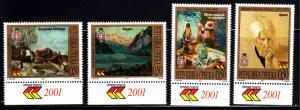 Bosnia and Herzegovina Serb Admin MNH Scott #155-#158 Set of 4 Paintings