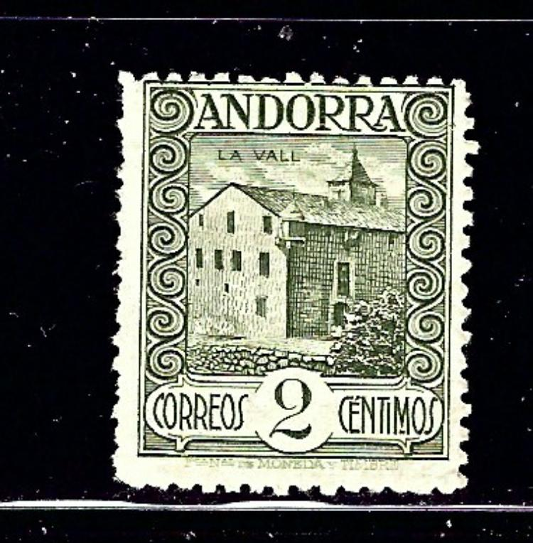 Spanish Andorra 13 MH 1929 issue