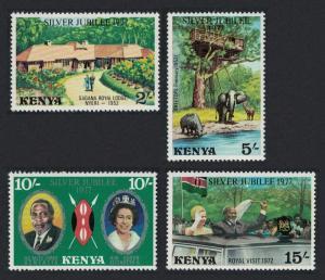 Kenya Elephant Rhinoceros Royal Silver Jubilee 4v SG#91-94