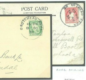 Ireland EIRE Drogheda Louth GAELIC Skeleton Cards{2} 1934 {samwells-covers}J263