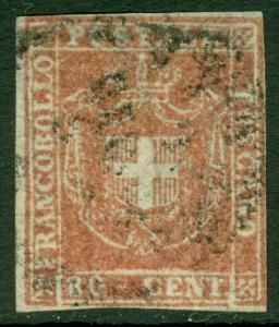 EDW1949SELL : ITALIAN STATES Tuscany 1860 Sc #22 Used, VF+ & Choice. Cat $1,900.