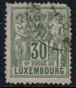 Luxembourg #56 rounded corner  CV $12.00