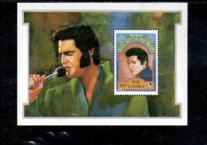 GAMBIA #1191  1992    ELVIS PRESLEY    MINT VF NH  O.G  S/S