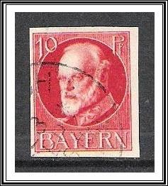 Bavaria #121 King Ludwig III Used