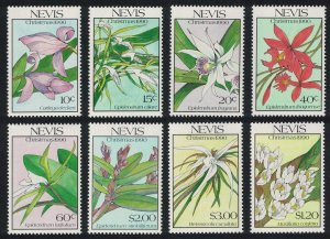 Nevis Christmas Native Orchids 8v 1990 MNH SG#564-571