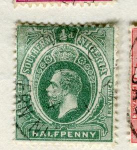 SOUTHERN NIGERIA;   1912 early GV issue fine used 1/2d. value