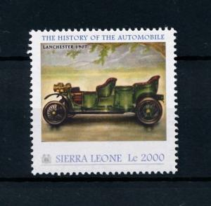 [76408] Sierra Leone 2010 Classic Cars Lanchester 1907 Type 28 HP MNH