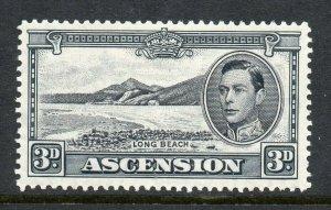 Ascension 1938 KGVI 3D Nero e Grigio p13½ Sg 42a Mint Cv