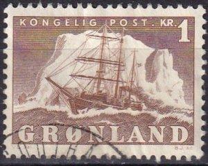 Greenland #36 F-VF Used CV $3.25 (Z8092)
