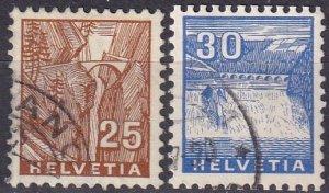 Switzerland #224-5 F-VF Used CV $9.80 (Z4590)