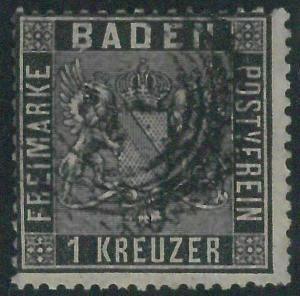 77914i - GERMANY Baden -  STAMP:  Michel  #  9  -  USED