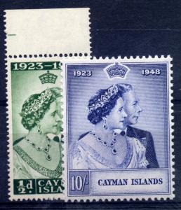 Cayman Is. 1948 sg 129 - 130 George VI Silver Wedding, UM