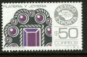 MEXICO Exporta 1176, $50P Jewelery, Wmkd. Fosfo Paper 2. MINT, NH. VF.
