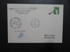 French Antarctic 1981 TAAF Paquebot Cover / Signed / St Paul CDS - Z10280
