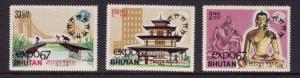 Bhutan Sc#87-87B-unused NH set-ovpt EXPO 67-1967-