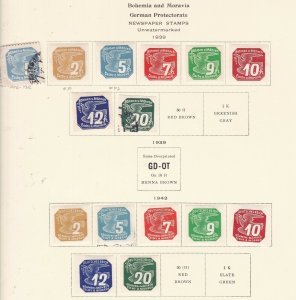 BOHEMIA& MORAVIA ^^^^^1939 German  Occupation Newspaper issues@ ha 2029xxbcza