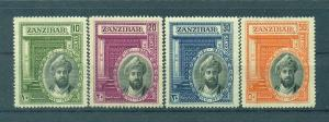 Zanzibar sc# 214-217 (1) mh cat value $49.75