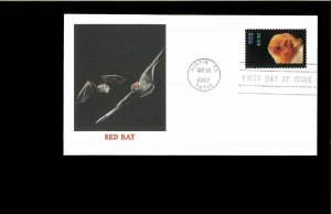2002 First day Cover American Bats Austin TX