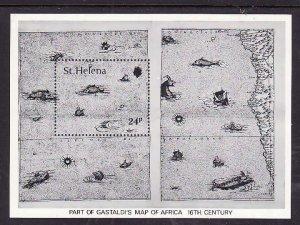 St. Helena-Sc#352 id7-unused NH sheet-Maps-1981-