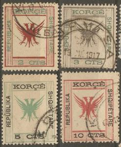 Albania 63-6 Mi Korzia 12-5 Used F/VF 1917-8 SCV $12.80