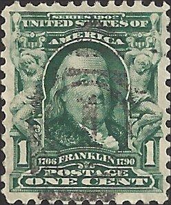 # 300 Blue Green Used Ben Franklin