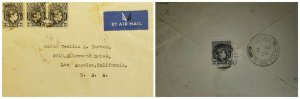O) 1939 NIGERIA, KING GEORGE VI, AIRMAIL TO USA