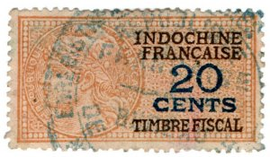 (I.B) France Colonial Revenue : Indo-China Duty 20c