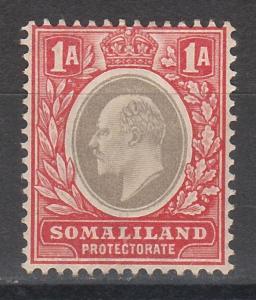 BRITISH SOMALILAND 1904 KEVII 1A WMK CROWN CA