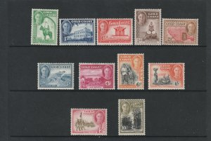 Gold Coast a small lot of MH KGVI to 10/-