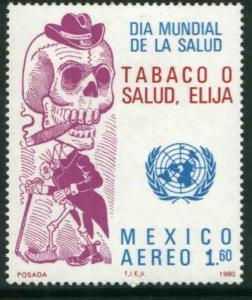 MEXICO C635, World Health Day vs Smoking MINT, NH. F-VF.