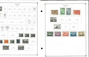 Albania 1944-1995 Mint & CTO Hinged on 84 Scott international Pages to 1999..