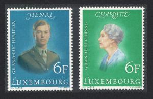 Luxembourg Royal Birthdays 2v SG#962-963 SC#579-580