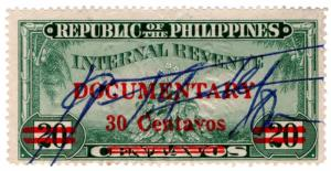 (I.B) Philippines Revenue : Documentary 30c on 20c OP
