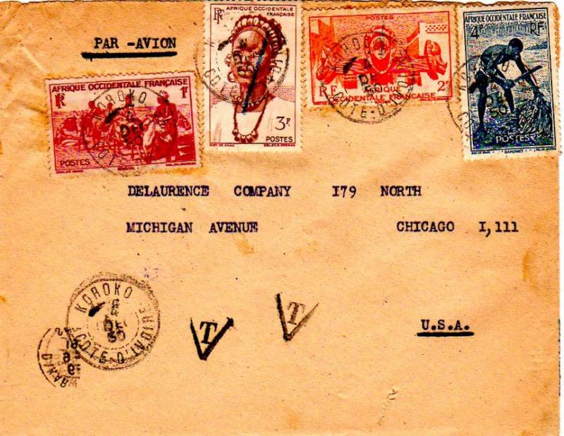 French West Africa 1950 Postal History
