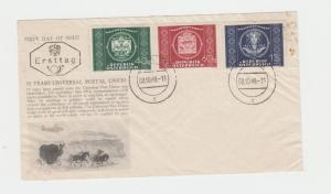 AUSTRIA 1949 UPU SET ON FIRST DAY COVER (SEE BELOW)