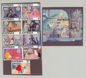 Antigua #592-601 Disney, Christmas 9v & 1v S/S Imperf Proofs