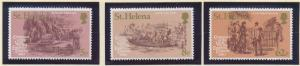St. Helena Stamp Set Scott #335-7, Mint Never Hinged MNH - Free U.S. Shipping...