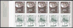 Sweden 1344a MNH - Nobel Prize Winners 1920 - Guillaume/Nernst- Complete Bklt