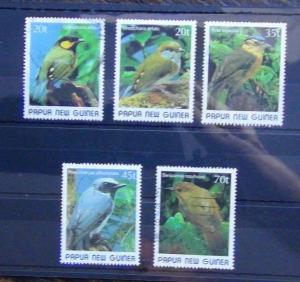 Papua New Guinea 1989 Small Birds 2nd issue set Used