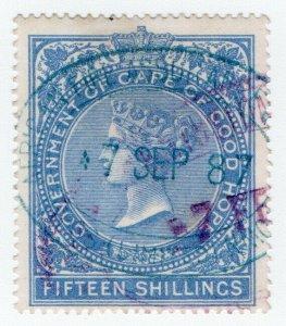 (I.B) Cape of Good Hope Revenue : Stamp Duty 15/- (colour error)