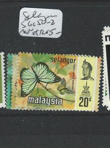 MALAYA SELANGOR (P0908B) BUTTERFLY SG150-2  MNH
