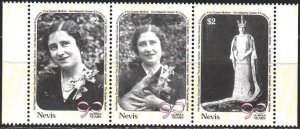 Nevis. 1990. 548-50. Queen mother, dog. MNH.