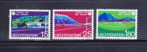 Liechtenstein 737-739 Set MNH Sports, World Cup Soccer (A)